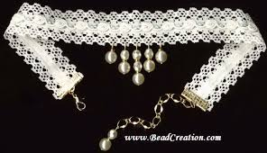 white lace necklace images Not your grandmother 39 s pearls off white lace choker jpg