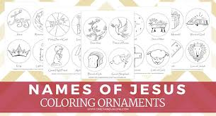 free names of jesus printable ornaments one thing alone