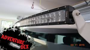 jeep curved 50 inch led light bar by auxbeam installation