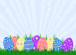 Easter Egg Decoration Vector by Variety Of Colourful Decorated Easter Eggs Hidden In Grass Royalty