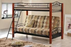 Wood And Metal Bunk Beds Bunk Bed Futon Ianwalksamerica