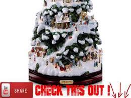 thomas kinkade village christmas artificial tabletop christmas