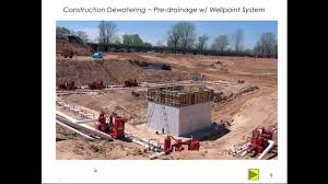 construction dewatering youtube