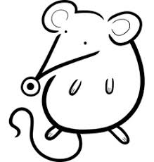 cartoon kawaii mouse coloring royalty free vector image
