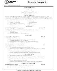 exle student resumes resume for freshman college student