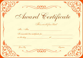 award certificate samples 6 certificate award template bookletemplate org