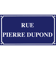 plaque numero rue plaque de rue personnalisee