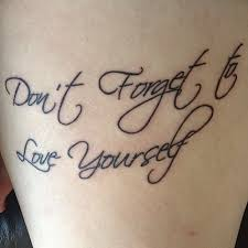 don t forget to yourself quote