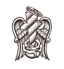 dove and cross tattoo cross with wings coloring pages pr energy