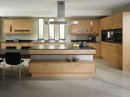 ilot central cuisine bois cuisine moderne bois chêne