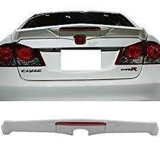 honda civic spoiler brake light amazon com trunk spoiler fits 2006 2011 honda civic modulo style