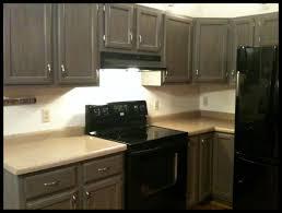 Kit Kitchen Cabinets Furniture Modern Refrigerator With Dark Rustoleum Cabinet