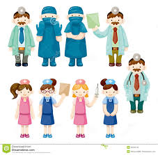 Doctor And Nurse Cartoon Doctor And Nurse Icons Royalty Free Stock Image Image