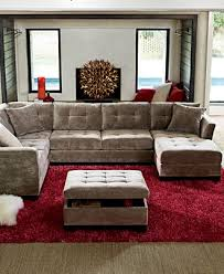 Macys Sectional Sofas by Elliot Fabric Microfiber 3 Piece Chaise Sectional Sofa Created