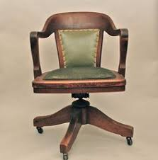 Antique Wood Chair Vintage Wood Office Chair Crafts Home