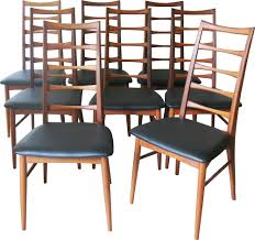 Martha Stewart Collection Patio Furniture by Set Of 8 Dining Chairs In Teak Niels Koefoed 1960s Design Market