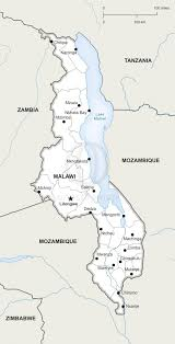 Malawi Map Vector Map Of Malawi Political One Stop Map