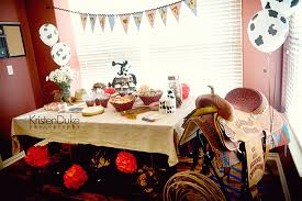 beautiful decoration western baby shower ideas design table