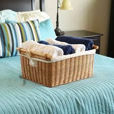 wicker basket with leather handles basic wicker storage basket the basket lady