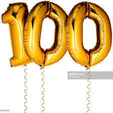 gold balloons gold balloons in the shape of a number 100 stock photo getty images