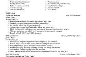 Warehouse Packer Resume Best Ideas Of Sample Resume For Picker Packer Also Template