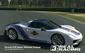 custom porsche 918 tune martini porsche 918 weissach package real racing 3 customize