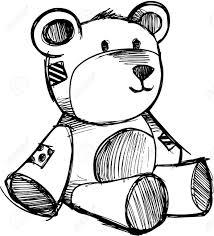 sketchy teddy bear vector illustration royalty free cliparts