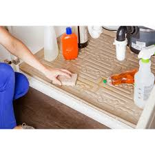 Kitchen Cabinet Liners by Kitchen Under Sink Cabinet Mats Black Or Beige Xtreme Mats