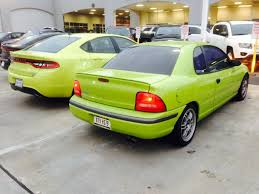 lime green dodge dart citrus peel dodge dart versus nitro yellow green neon color