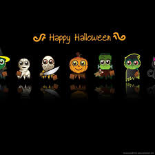 download halloween cute characters wallpaper for ipad