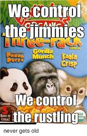 Gorilla Munch Meme - we control the jimmies gorilla munch cris we control contains boxes