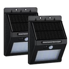 Solar Patio Lights Amazon by Amazon Com 2 Pack 20 Led Solar Motion Light Homitt Outdoor