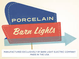 american made porcelain barn lights right here mid century