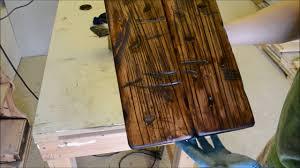 Make Barn Door by How To Make New Wood To Look Old Barn Door Part 2 Youtube