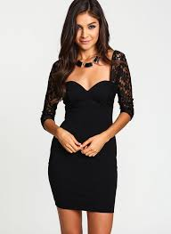 fitted dresses women vintage flirty black lace fitted button packaged dress