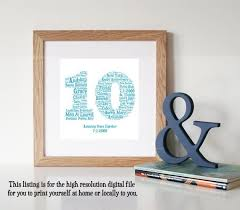10 year wedding anniversary gift the 25 best 10 year anniversary gift ideas on 1 year