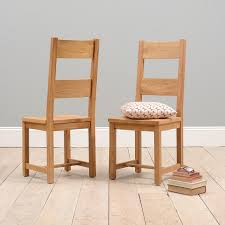 Straight Back Chairs Chairs Rustic Oak Ladder Back Chairs With Wooden Seat Oak