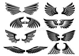 tribal angel wings for heraldry or tattoo design stock vector