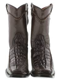men u0027s brown dressy crocodile western cowboy boots with zipper ebay