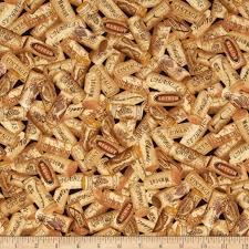 wine corks timeless treasures wine corks brown discount designer fabric