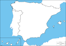 Spain Map Spain Map Outline Artcommission Me