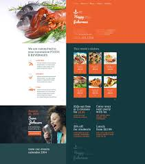 Kitchen Website Design by Website Template 51219 Happy Fisherman Sea Custom Website