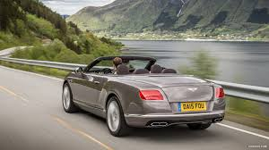 bentley silver 2016 bentley continental gt v8 convertible silver taupe rear
