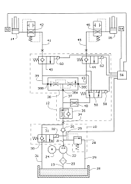 patent us6189432 automotive lift hydraulic fluid control circuit
