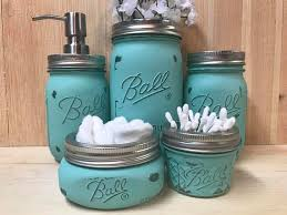 Peach Bathroom Accessories by Best 25 Mason Jar Bathroom Ideas Only On Pinterest Mason Jar
