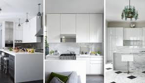 elegant galley kitchen designs white gloss cabinet wood antique