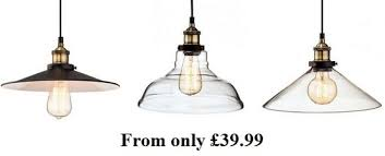 vintage style glass pendant lights from 39 99