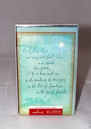 boxed hallmark cards lights decoration with