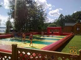 Football Field In Backyard Trampoline Inflatable Football Field Park Hotel