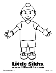 sikh boy colouring page teaching ideas